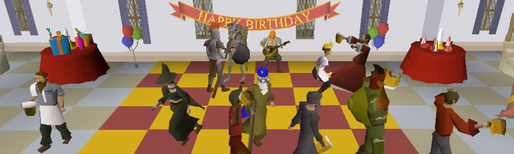 Old School RuneScape Fourth Anniversary Celebration Detailed